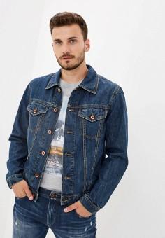 Куртка джинсовая, Diesel, цвет: синий. Артикул: DI303EMJQZV0. Одежда / Верхняя одежда / Джинсовые куртки