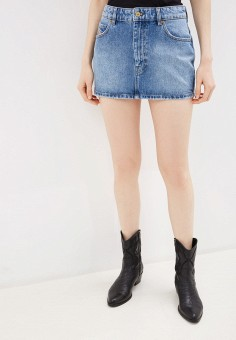 Юбка джинсовая, Diesel, цвет: голубой. Артикул: DI303EWHFOH7. Одежда / Юбки