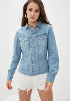 Рубашка джинсовая, Diesel, цвет: голубой. Артикул: DI303EWIIDK6. Одежда / Блузы и рубашки / Рубашки