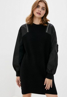 Платье, Diesel, цвет: черный. Артикул: DI303EWJPIF6.