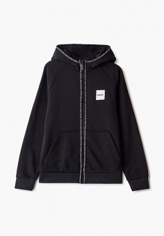 Толстовка, DKNY, цвет: черный. Артикул: DK001EBICHA3. Мальчикам / Одежда