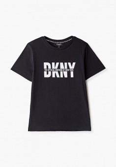 Футболка, DKNY, цвет: черный. Артикул: DK001EBKJJG1.