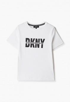 Футболка, DKNY, цвет: белый. Артикул: DK001EBKJJG2.
