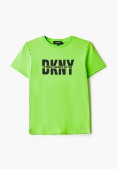 Футболка, DKNY, цвет: зеленый. Артикул: DK001EBKJJG3.