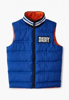Жилет утепленный, DKNY, цвет: оранжевый, синий. Артикул: DK001EBKJJH9. Мальчикам / Одежда / Верхняя одежда