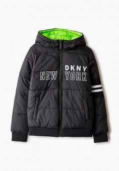 Куртка утепленная, DKNY, цвет: зеленый, черный. Артикул: DK001EBKJJI0.
