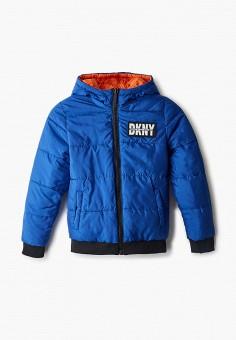 Куртка утепленная, DKNY, цвет: оранжевый, синий. Артикул: DK001EBKJJI1.