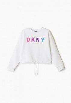 Свитшот, DKNY, цвет: белый. Артикул: DK001EGICHB5.