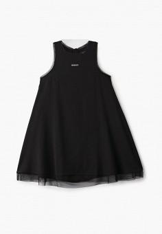 Платье, DKNY, цвет: черный. Артикул: DK001EGICHB9.
