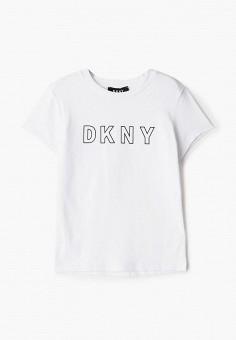 Футболка, DKNY, цвет: белый. Артикул: DK001EGKJJC2.