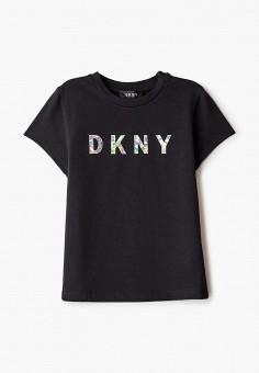 Футболка, DKNY, цвет: черный. Артикул: DK001EGKJJC3.