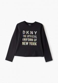 Лонгслив, DKNY, цвет: черный. Артикул: DK001EGKJJC5.