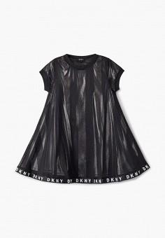 Платье, DKNY, цвет: черный. Артикул: DK001EGKJJD4.