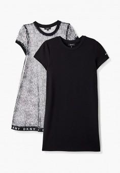 Платье, DKNY, цвет: черный. Артикул: DK001EGKJJD5.