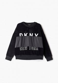 Свитшот, DKNY, цвет: черный. Артикул: DK001EGKJJE4.