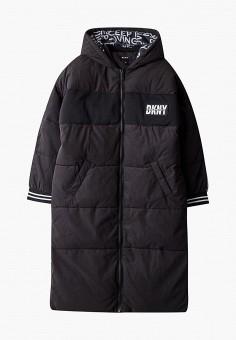 Куртка утепленная, DKNY, цвет: черный. Артикул: DK001EGKJJF2.