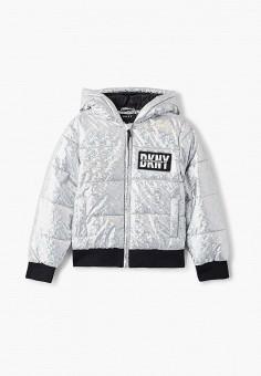 Куртка утепленная, DKNY, цвет: серебряный. Артикул: DK001EGKJJF4.