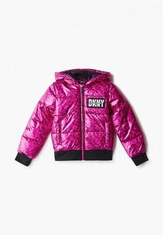 Куртка утепленная, DKNY, цвет: розовый. Артикул: DK001EGKJJF5.