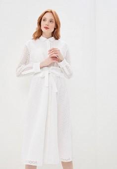 Платье, DKNY, цвет: белый. Артикул: DK001EWEYXY6.