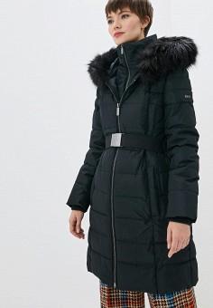Куртка утепленная, DKNY, цвет: черный. Артикул: DK001EWGSRL3.