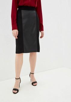 Юбка, DKNY, цвет: черный. Артикул: DK001EWHWOE0.
