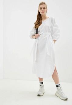 Платье, DKNY, цвет: белый. Артикул: DK001EWHWOF5.