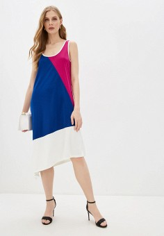 Платье, DKNY, цвет: мультиколор. Артикул: DK001EWHWOG2.