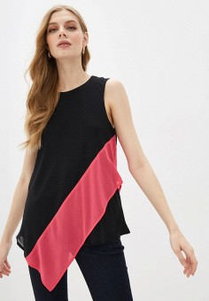 Блуза, DKNY, цвет: черный. Артикул: DK001EWHWOI7.