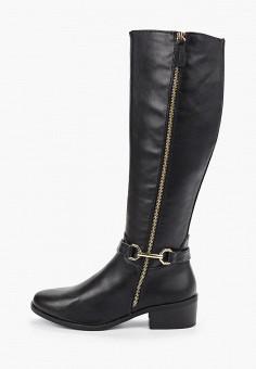 Ботфорты, Dorothy Perkins, цвет: черный. Артикул: DO005AWHBBK8. Обувь / Сапоги / Ботфорты