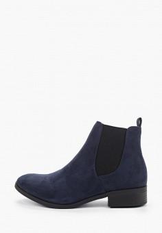 Ботинки, Dorothy Perkins, цвет: синий. Артикул: DO005AWHBBL7. Обувь / Ботинки / Челси