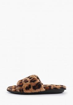 Тапочки, Dorothy Perkins, цвет: коричневый. Артикул: DO005AWHHGW7. Обувь / Домашняя обувь