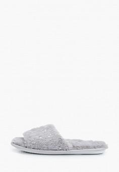 Тапочки, Dorothy Perkins, цвет: серый. Артикул: DO005AWHHGX0. Обувь / Домашняя обувь
