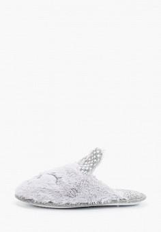Тапочки, Dorothy Perkins, цвет: серый. Артикул: DO005AWHHGX2. Обувь / Домашняя обувь