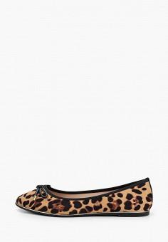Балетки, Dorothy Perkins, цвет: коричневый. Артикул: DO005AWINMM6. Обувь / Балетки