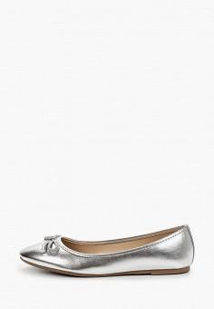 Балетки, Dorothy Perkins, цвет: серебряный. Артикул: DO005AWIQIS8. Обувь