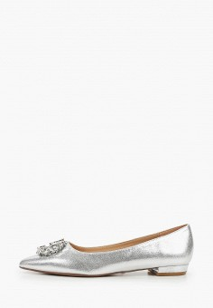 Балетки, Dorothy Perkins, цвет: серебряный. Артикул: DO005AWIWSZ5. Обувь / Балетки