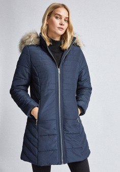 Куртка утепленная, Dorothy Perkins, цвет: синий. Артикул: DO005EWIASW9.