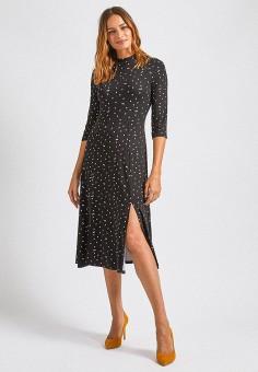 Платье, Dorothy Perkins, цвет: черный. Артикул: DO005EWIEZW5.