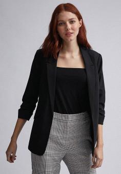 Пиджак, Dorothy Perkins, цвет: черный. Артикул: DO005EWIGTZ6. Одежда / Пиджаки и костюмы