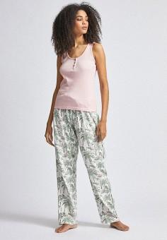 Пижама, Dorothy Perkins, цвет: зеленый, розовый. Артикул: DO005EWINMT2. Одежда / Домашняя одежда / Пижамы