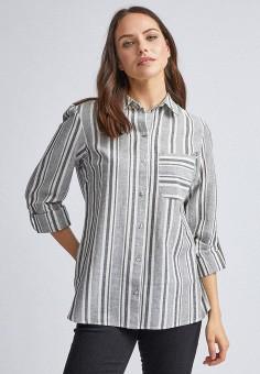 Рубашка, Dorothy Perkins, цвет: серый. Артикул: DO005EWIVFG4. Одежда / Блузы и рубашки / Рубашки