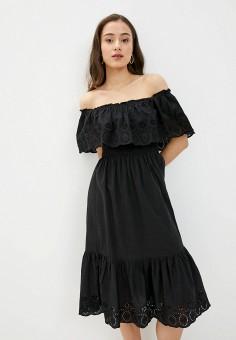 Платье, Dorothy Perkins, цвет: черный. Артикул: DO005EWIVSC2. Одежда / Платья и сарафаны