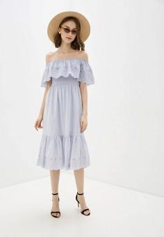Платье, Dorothy Perkins, цвет: голубой. Артикул: DO005EWIVSC3. Одежда / Платья и сарафаны
