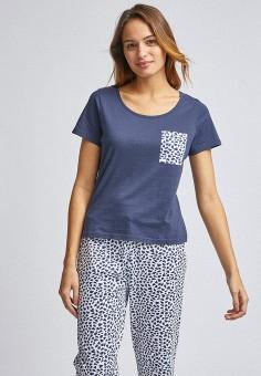 Пижама, Dorothy Perkins, цвет: синий. Артикул: DO005EWIVSD5. Одежда / Домашняя одежда