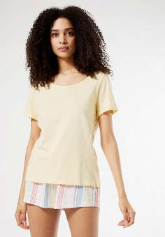 Пижама, Dorothy Perkins, цвет: желтый. Артикул: DO005EWIVSD9. Одежда / Домашняя одежда / Пижамы