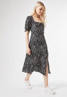 Платье, Dorothy Perkins, цвет: черный. Артикул: DO005EWIYJG3. Одежда / Платья и сарафаны / Повседневные платья