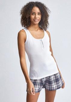 Пижама, Dorothy Perkins, цвет: белый, серый. Артикул: DO005EWIZUH0. Одежда / Домашняя одежда / Пижамы