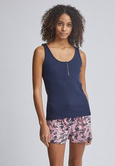 Пижама, Dorothy Perkins, цвет: розовый, синий. Артикул: DO005EWIZUH2. Одежда / Домашняя одежда / Пижамы