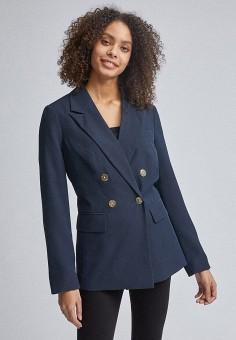Пиджак, Dorothy Perkins, цвет: синий. Артикул: DO005EWIZUK1. Одежда / Пиджаки и костюмы