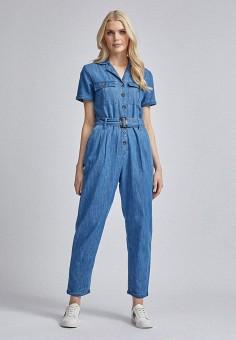 Комбинезон джинсовый, Dorothy Perkins, цвет: синий. Артикул: DO005EWIZUK6. Одежда / Комбинезоны